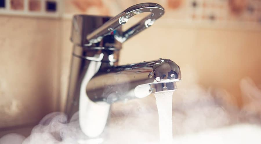smelly hot water